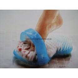Sandálový kartáč k mytí nohou do sprchy a vany
