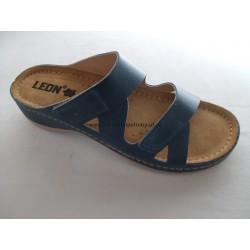 Leons 907 modrá dámský pantofel