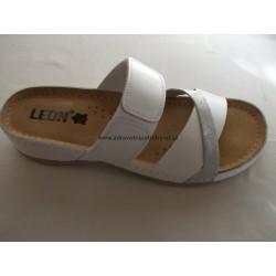 Leons 909 bílá dámský pantofel