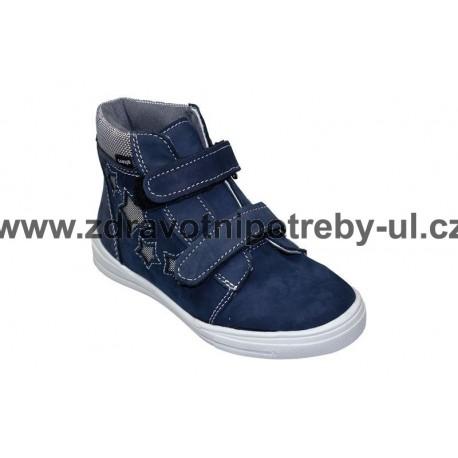 Santé HP/480 tm. modrá dětská kotníčková obuv celorok