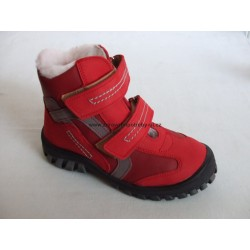 Sázavan S 1462 dětská zimní obuv červená