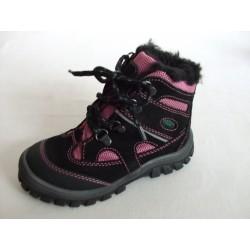 Fare 846251 dětská zimní obuv černo/růžová