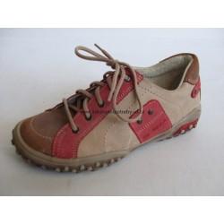 PK-REGA 3-002 487 dětská vycházková obuv béžovo/červená