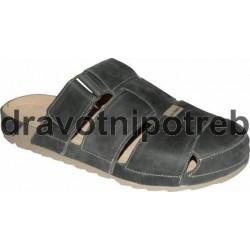 Medistyle Marek 7M-J16/1 pánský pantofel plná špice šedý