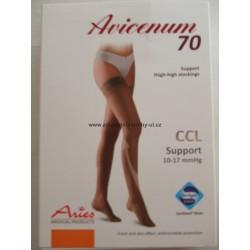 Avicenum 70 popdůrné  punčochy samodržící AG