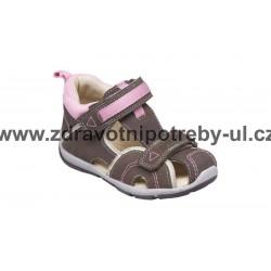 Santé SK/333 Khaki-Růžový dětský sandál vel. 25