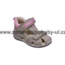 Santé SK/333 Šedo-Růžová dětský sandál vel. 25