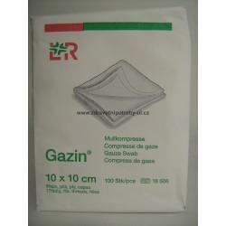 Gazin gázová komprese nesterilní 10 x 10 cm 100ks