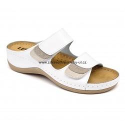 Leons 904 Sena dámský pantofel Bílá