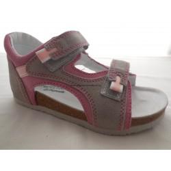 Protetika T 32/33 sandál růžovo/šedá