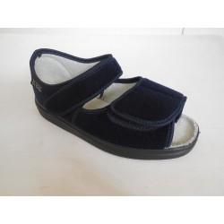 Befado dr. Orto 989D002 dámský sandál, pevná pata Tm. modrá