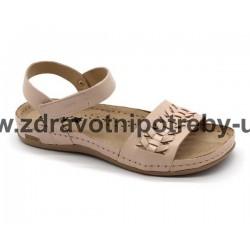 Leons 964 dámský sandál pudrová